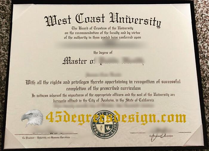 West Coast University diploma