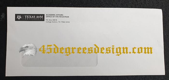 Texas A&M University Transcript Envelope