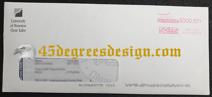 UHCL Transcript Envelope