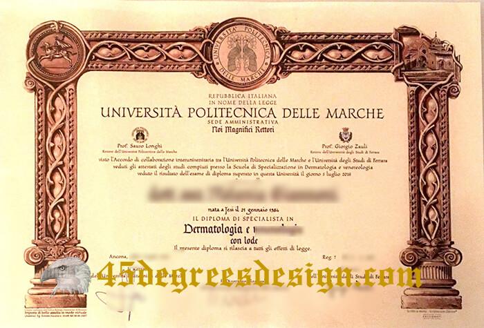 Università Politecnica delle Marcheb diploma