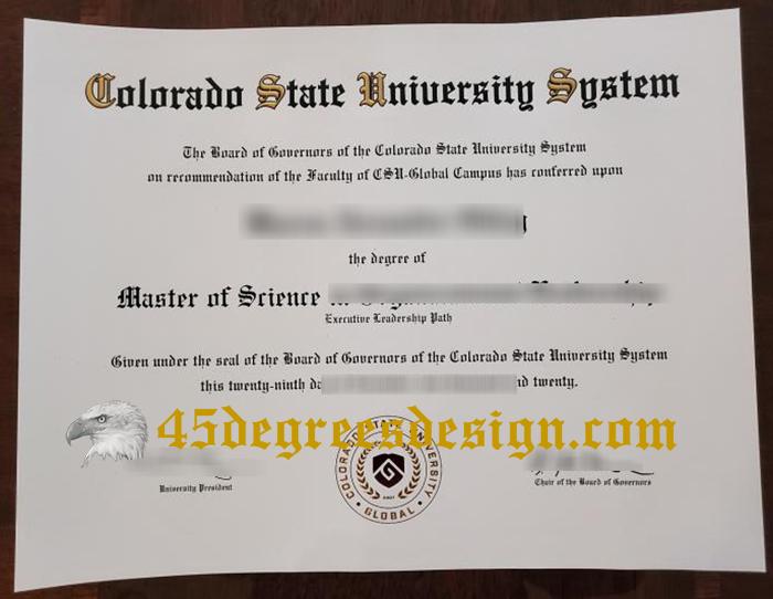 CSU Global diploma