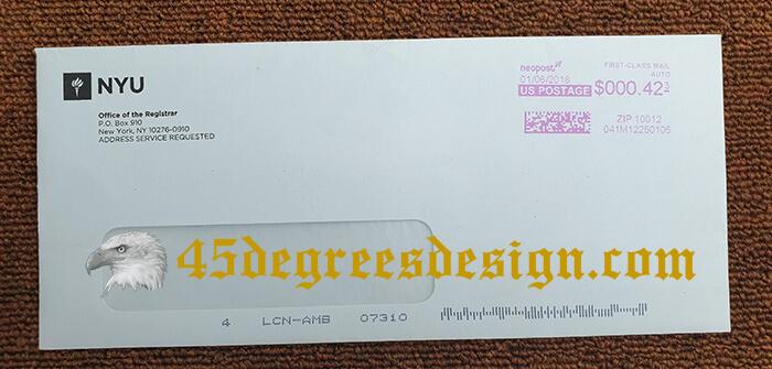 New York University Transcript Envelope