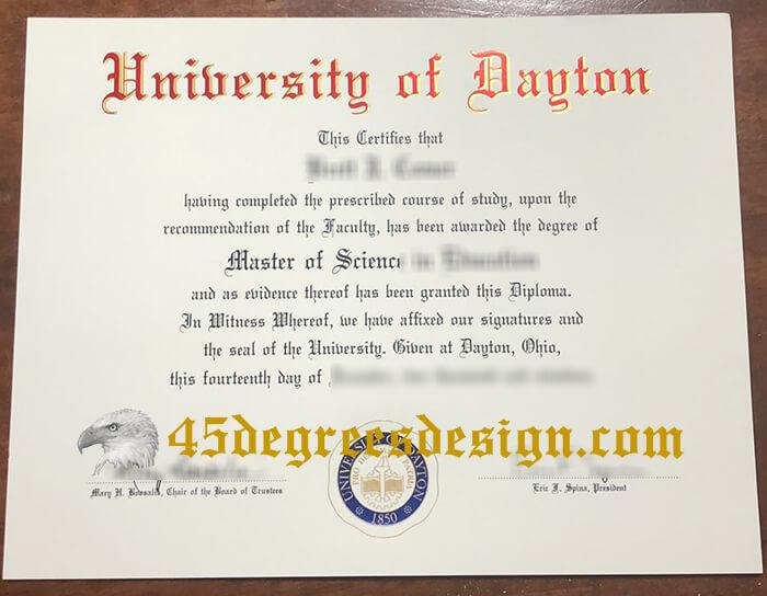 University of Dayton diploma