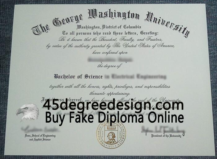 George Washington University diploma, Buy diploma online