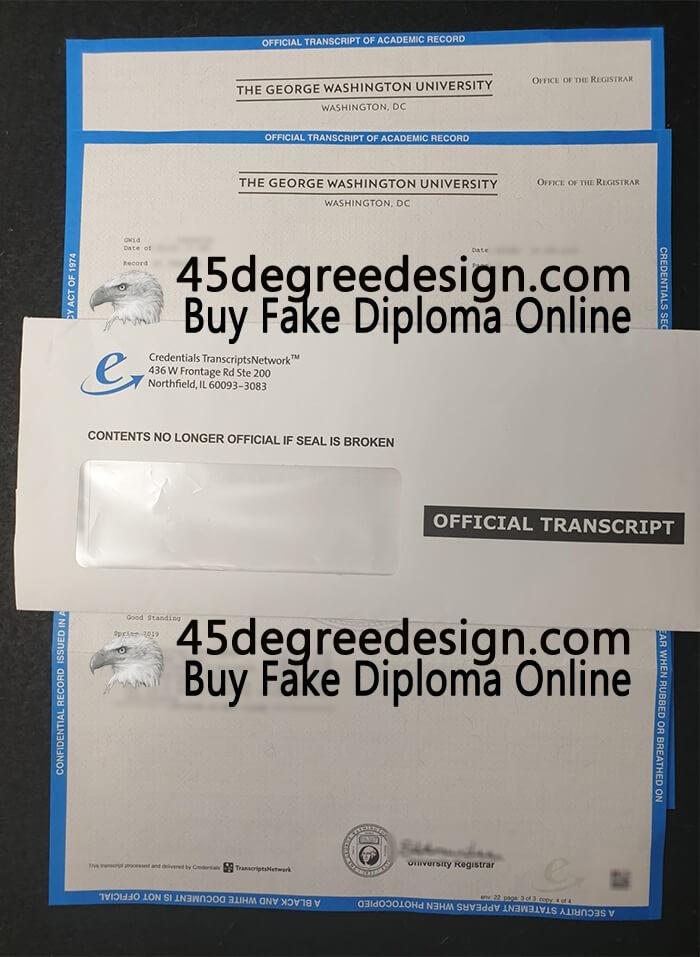 George Washington University transcript,  GWU transcript, Buy diploma online
