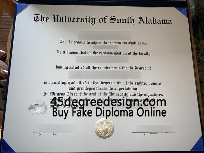 University of South Alabama diploma , Buy diploma online, USA degree.
