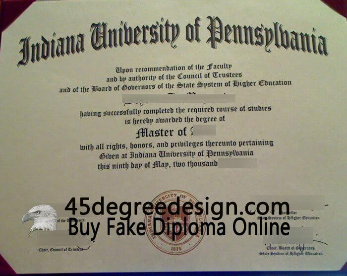 Indiana University of Pennsylvania diploma