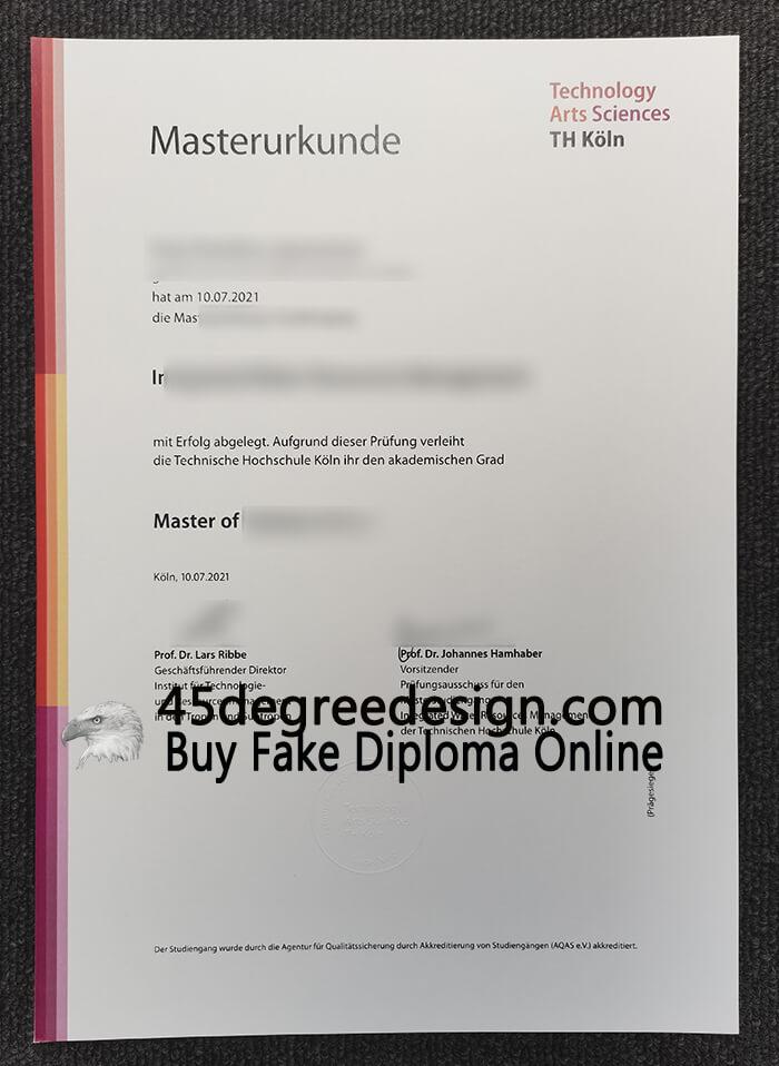 TH Köln – University of Applied Sciences diploma