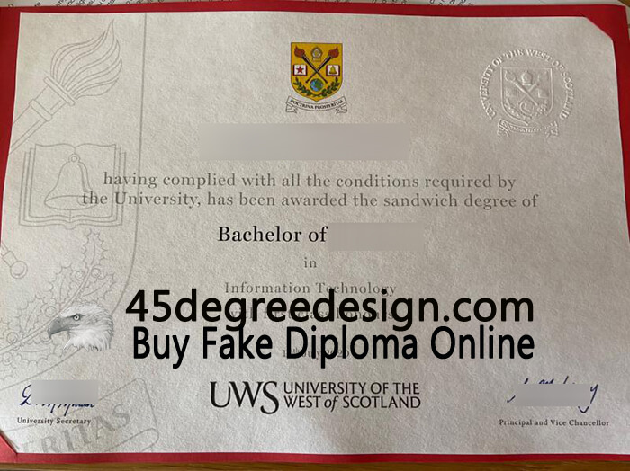 University of the West of Scotland degree