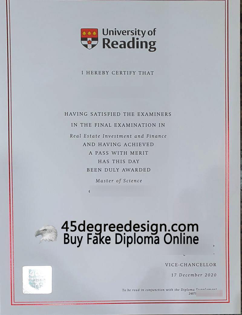 University of Reading degree
