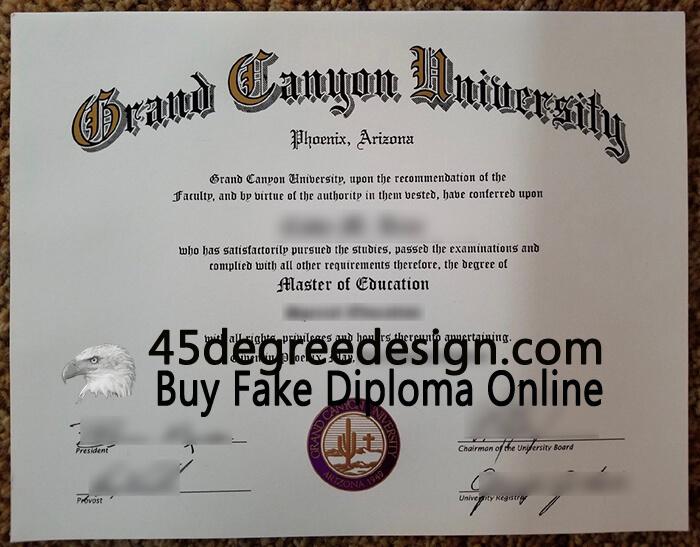 Grand Canyon University diploma