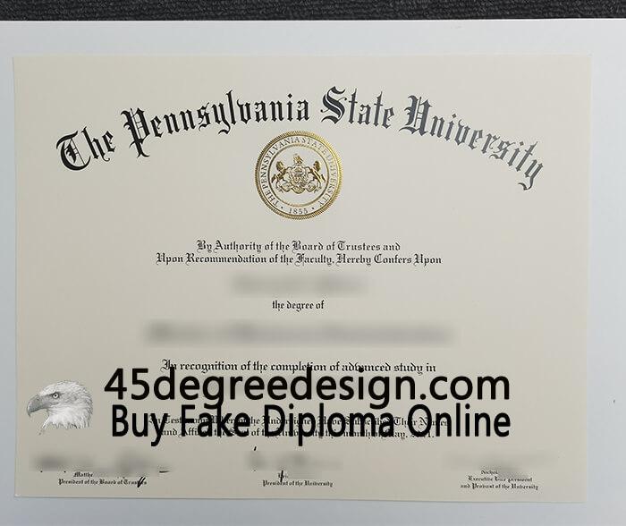 PSU MBA diploma