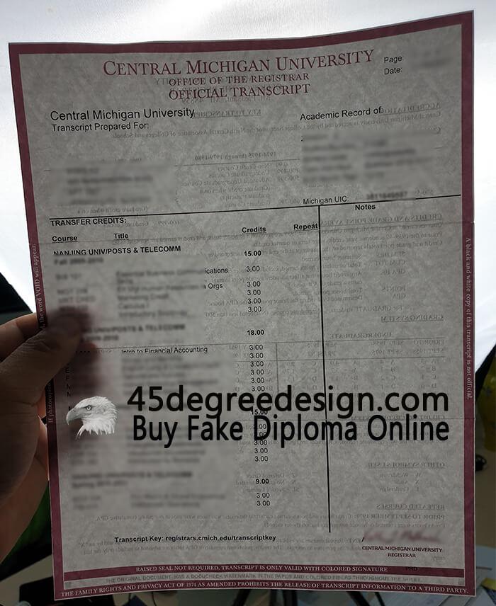 Central Michigan University transcript, Buy transcript online