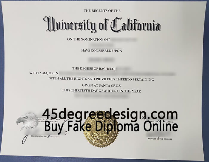 UC Santa Cruz diploma