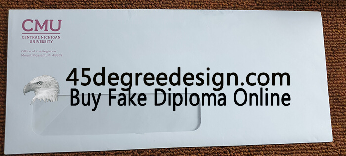 Central Michigan University Transcript Envelope