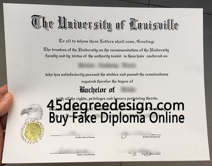University of Louisville diploma