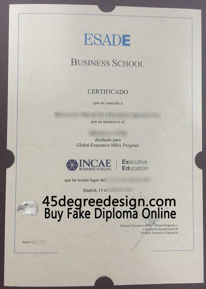 ESADE Business School diploma