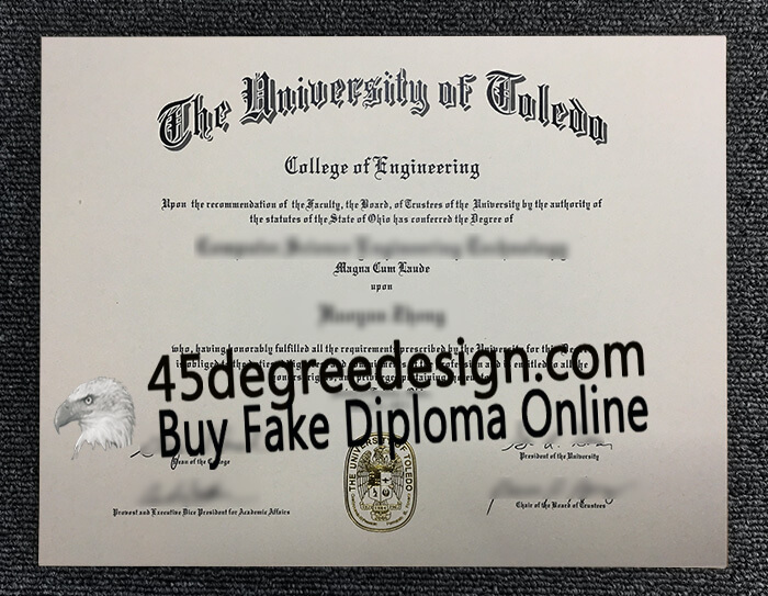 University of Toledo diploma, University of Toledo degree