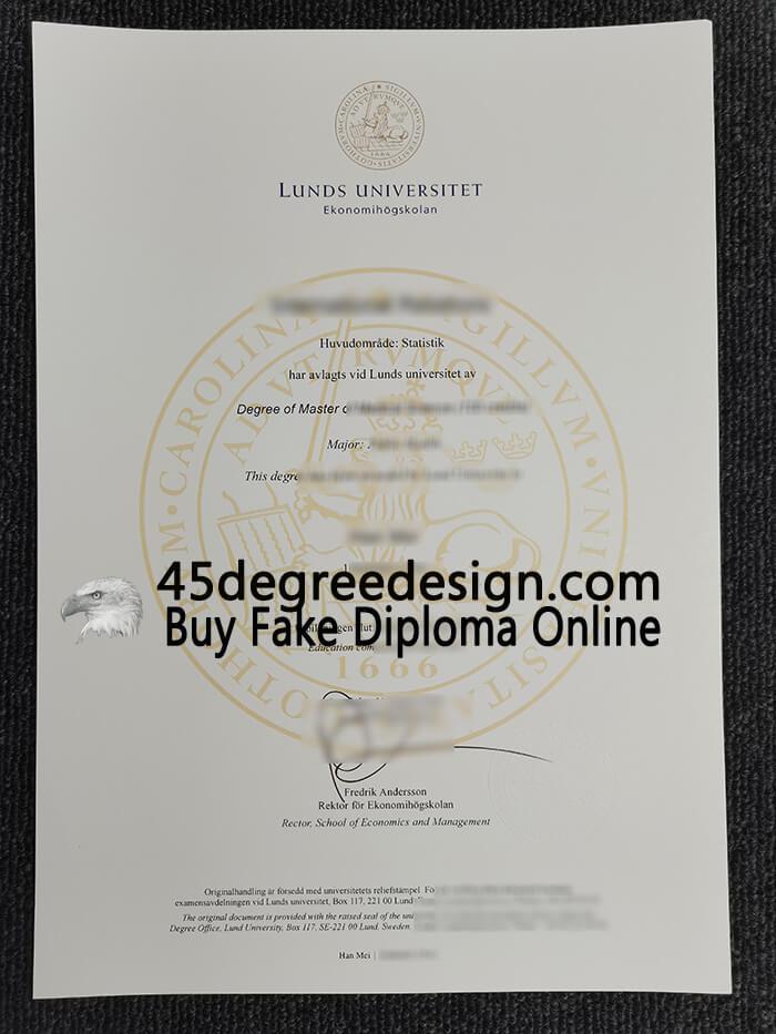 Lunds Universitet diploma
