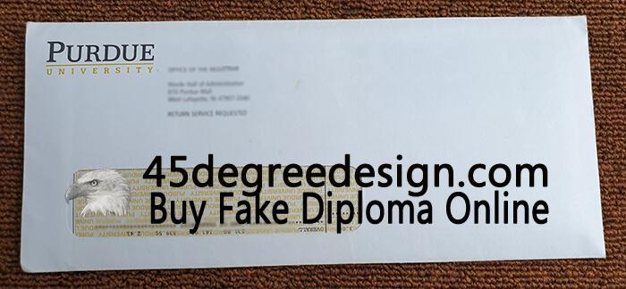 Purdue University Transcript Envelope