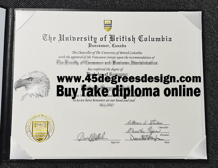 University of British Columbia diploma, UBC degree