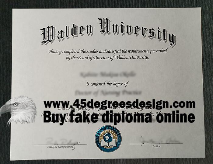 Walden University diploma
