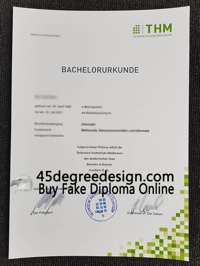 Technische Hochschule Mittelhessen Urkunde