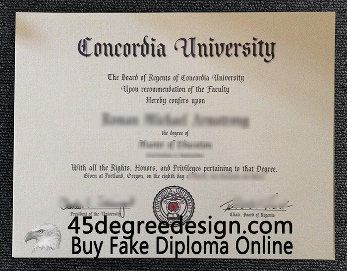 Concordia University (Oregon) degree