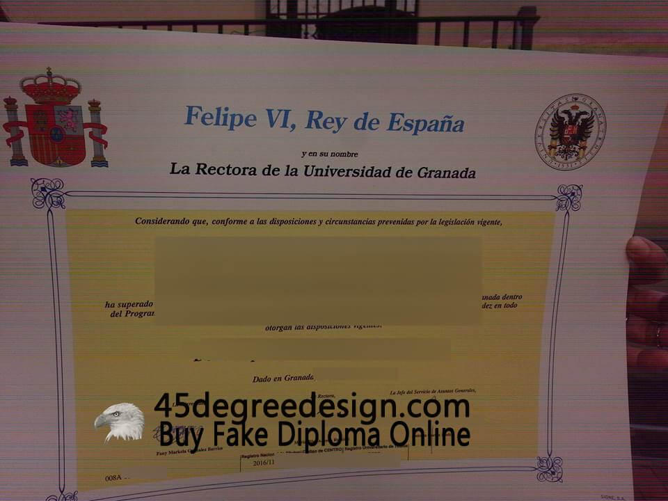University Of Granada Diploma