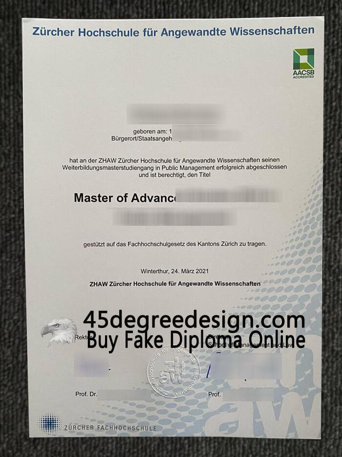 ZHAW diploma