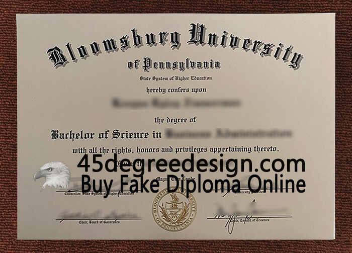 Bloomsburg University of Pennsylvania diploma