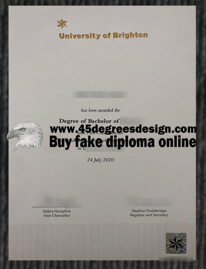 University of Brighton degree