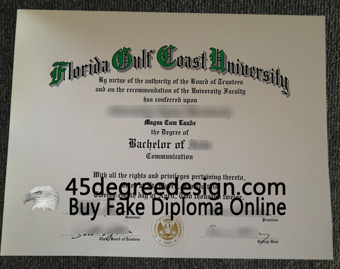 FGCU diploma