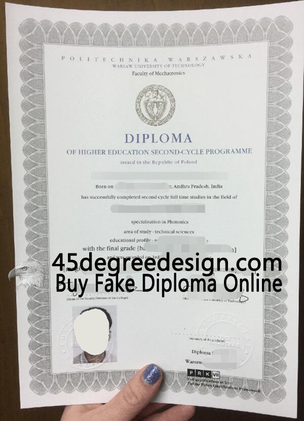 Politechnika Warszawska diploma