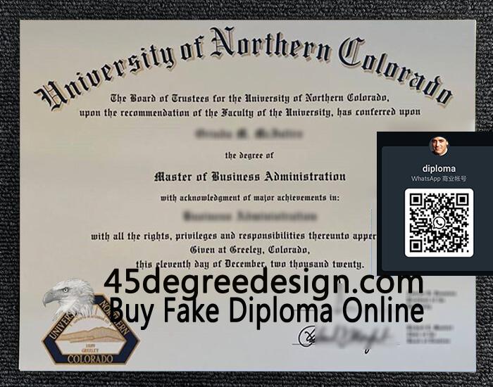 University of Northern Colorado diploma