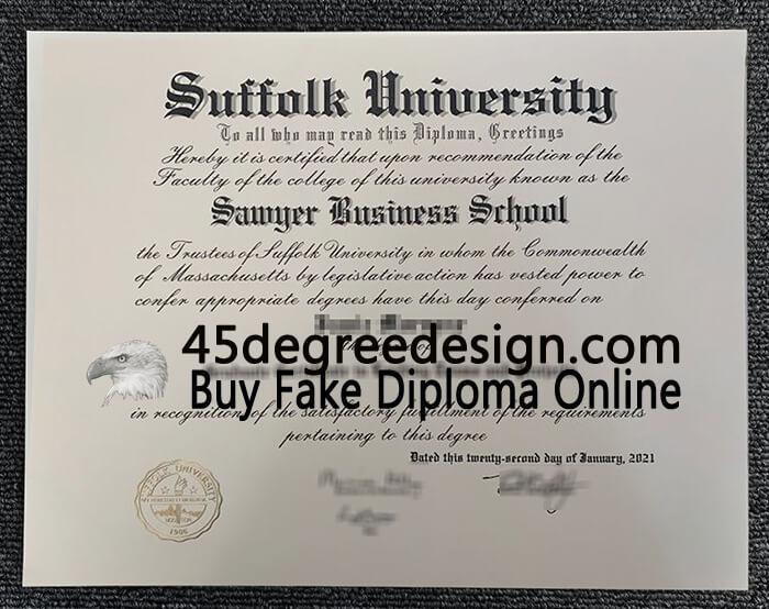 Suffolk University diploma, Buy Suffolk University degree