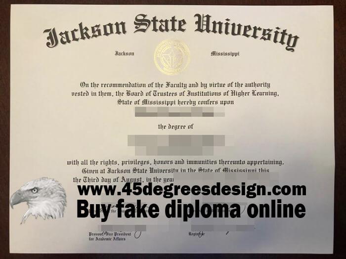 Jackson State University diploma