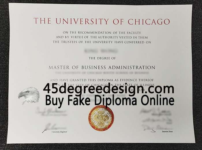 University of Chicago MBA diploma