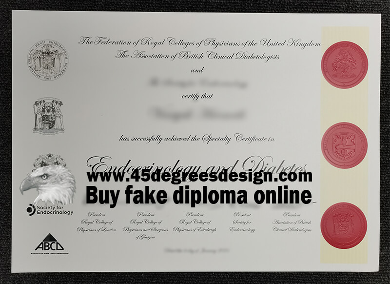 Specialty Certificate Examination in Endocrinology & Diabetes, SCE certificate, Get a fake MRCPUK certificate online