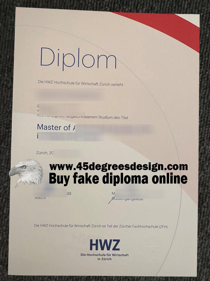 Hochschule für Wirtschaft Zürich diploma, HWZ diploma