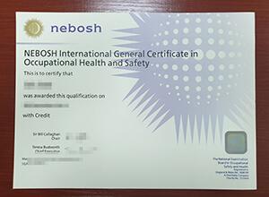Buying fake NEBOSH certificate