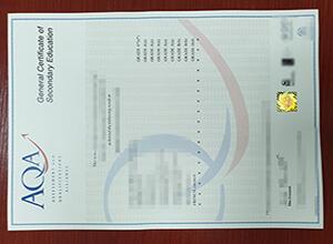 AQA GCSE Certificate