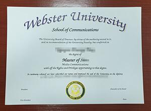 Webster University Diploma