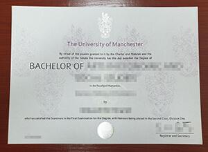 Manchester University diploma