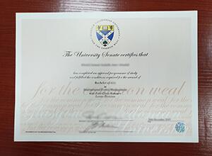 Glasgow Caledonian University degree