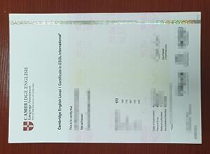 fake Cambridge english level 1 certificate