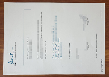 University of Lausanne diploma