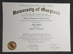 University of Maryland, College Park diploma