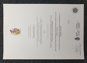 Making fake Cardiff Metropolitan University diploma
