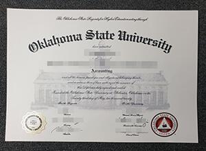 Make a fake Oklahoma State University diploma, buy fake diplomas